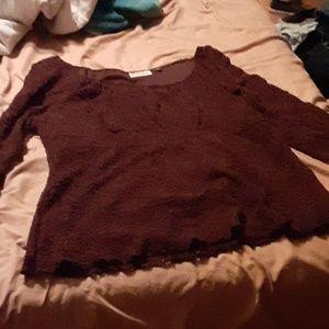 Cute brown blouse